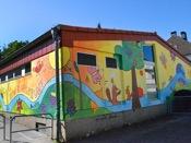 Fassadengestaltung mit Kindern und Eltern, Kita Kunterbunt 6-DSC_0645